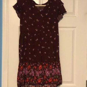 Old Navy Floral Fall Swing Dress